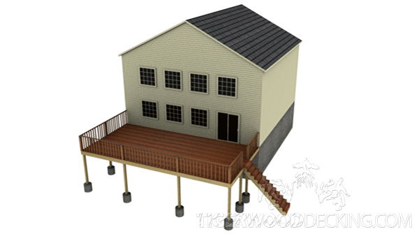 This deck design allows you to utilize a sloped backyard for the perfect outdoor escape.