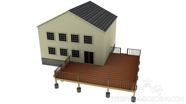 This versatile design allows you to have privacy on your own deck, while still being able to entertain.