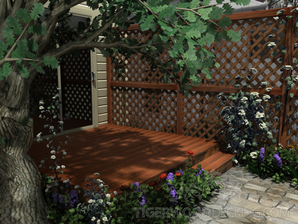 Lattice allows you to add privacy to your outdoor area without completely enclosing your deck.