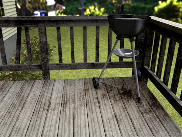 Hot charcoal can ruin your deck. Make sure you are using your grill correctly.