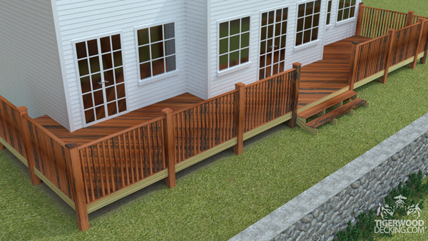 Utilize all the space on your lot by making you deck the same length as your home.