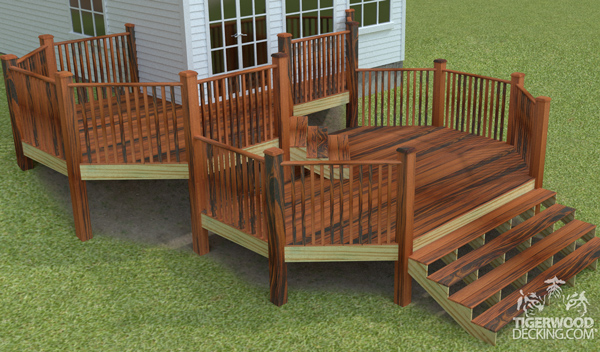 Just because your backyard has a steep slope does not mean you can't build a deck. Take advantage of the slope and build a multi-level deck!