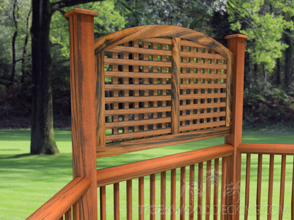 Walking around your deck and determining the most exposed areas, allows you to block off specific sections without barricading yourself in.