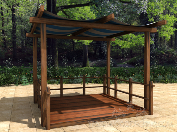 If more shade is what you desire, a canopy provides that, but still leaves the sides exposed to the natural environment.