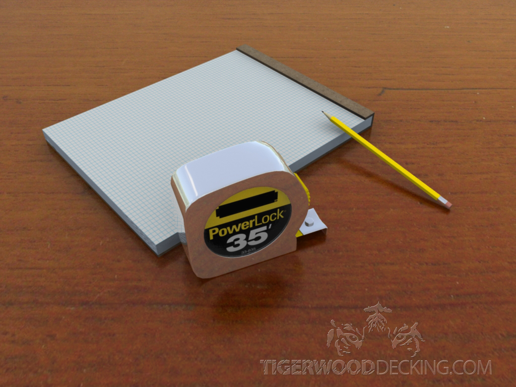 These basic supplies can get you started on drawing your decking plans.