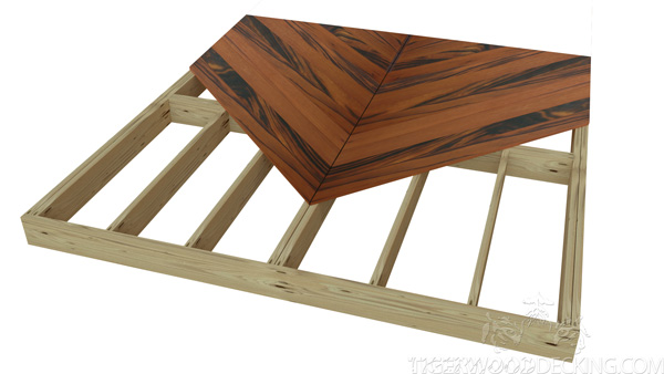 The Chevron design is perfect if you're wanting a timeless design for your deck.