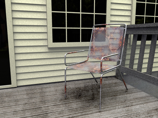 Keeping your deck furniture well maintained doesn't only make it look nice, it makes it safe too.