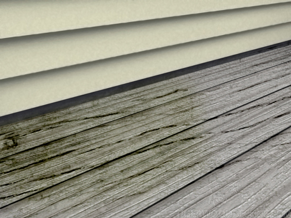 Splits and decayed deck boards need to be replaced immediately to keep anyone from getting hurt.