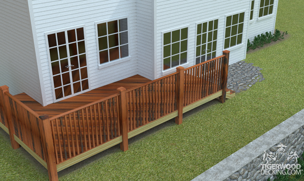 A deck on a long, narrow lot is a possibility, you just have to work with the space you have.
