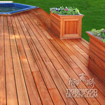 Tigerwood Deck and Planters