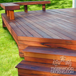 Tigerwood Deck and Bench